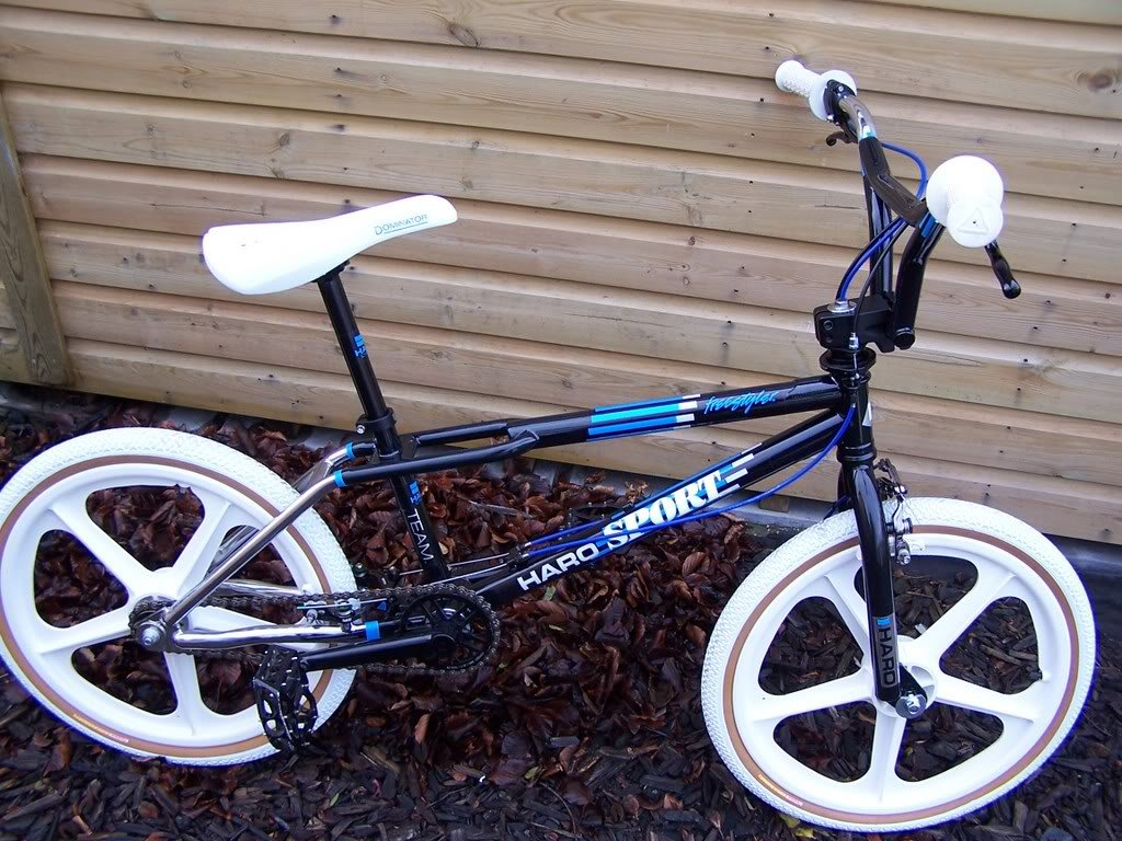 Haro master 88 bmx decal black and silver